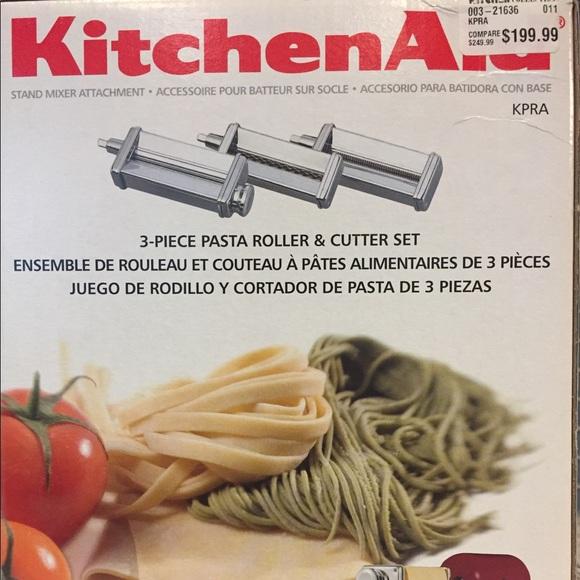 Kitchen aid 3 piece pasta attachment set